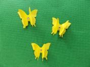 mums butterflies 10 3D yellow plus diamonte 3cm x 3cm