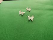 mums butterflies 10 3D white plus diamonte 3cm x 3cm