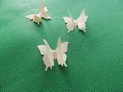 mums butterflies 10 3D cream plus diamonte 3cm x 3cm