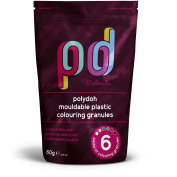 Polydoh mouldable plastic colouring granules [also compatible with polymorph, plastimake, instamorph]