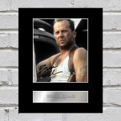 Bruce Willis Signed Mounted Photo Display Die Hard