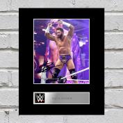 Zack Ryder Signed Mounted Photo Display WWE