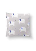 bandide Elephant Cotton Cushion Cover, Grey, 45 x 45 cm