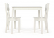 Curious Lion Wood Kids Table and 2 Chairs Set