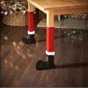 Startview New Fashion 4PC Christmas Chair Leg Foot Cover , Table Decoration for Party Dinner Christmas