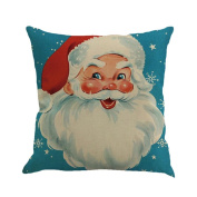 Santa's Cars And Dogs Printing Dyeing Pillow Cases -- Christmas Trees Multicolor Cushion Cover Home Decor Square 46cm
