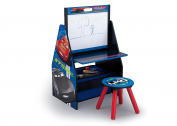 Delta Children Activity Centre with Easel Desk, Stool and Toy Organiser, Disney/Pixar Cars