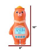 Bear Clock with Temperature & Calendar - Orange - BC100A