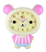 """BEIGE BEAR CHILDREN'S WALL CLOCK CUTE HOME DECOR KAWAII 14"""" x 12"""""""