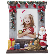 10cm x 15cm Light Up Christmas Picture Frame with Santa Claus