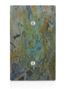 Tropical Green Granite Printed Single Blank Electrical Switch Plate
