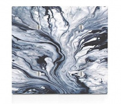 Blue White Marble Printed Texture Pattern Double Blank Electrical Switch Plate