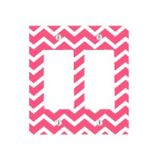 Cute Chevron Lines Pattern Background 2 Gang Decorator Dimmer Wall Plate