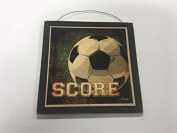 Soccer Score Sports Wall Art Sign Boys Bedroom Decor decorations