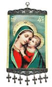 Madonna & Child Textile Art Tapestry Icon Banner Wall Decor