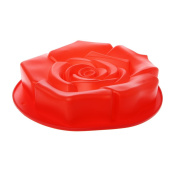 BetterM Rose Shaped Silicone Cake Mould, Non-Stick Chocolate Biscuit Baking Mould Pastry Tool