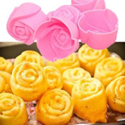 JD Million shop Random Colour 5PCS Rose Muffin Cookie Cup Cake Decorating Tools Baking Chocolate Jelly Maker Mould Mould Maker KT0381