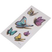 VWH Women 3D Colourful Butterfly Temporary Tattoo Sticker Sexy Art Waterproof Paper