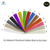 3D Pen Filament Refills PLA - VICTORSTAR 14 Colours, 14 Metres (459.2ft) / Stick Straight Filament / 12 Colours + 2 Colours Glow in the Dark / Diameter 1.75mm, Plant Resin Material and No Odour Better to Health