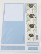 Craft UK Concept Card Decoupage Happy Birthday Handmade Card - Light Blue X 10 Includes a pad of 440 3 mm Decoupage dots