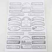 Craft UK Limited A4 Pearlised Sheet Die Cut Captions Christmas 2 Wishes Silver