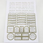 Craft UK Limited A4 Pearlised Sheet Die Cut Captions Christmas Wishes Gold