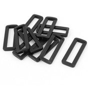 DealMux Plastic Bag Bar Slides Buckles 10 Pcs Black for 50mm Webbing Strap
