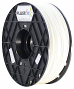 Plastink RBR300WH05 Rubber Filament for 3D Printer, 3 mm Diameter, White