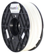 Plastink ABS175WH ABS Filament for 3D Printer, 1.75 mm Diameter, White