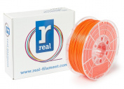 Real Filament 8719128326030 Real PLA, Spool of 1 kg, 1.75 mm, Fluor Orange
