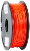 eSun 3D Printer Filament, PLA, 3 mm, 1 kg Reel, Red