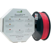 Voltivo ExcelFil ABS Cherry Red 1.75mm 3D Printing Filament