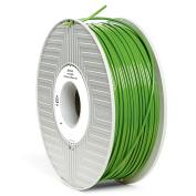 VERBATIM 55280 PLA 3D Filament Green 285mm Diameter 1kg Reel PLA (Polylactic Acid) Filament Degradable Bioplastic -
