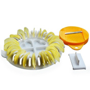 Outflower 1 Set Microwave Oven DIY Baked Potato Chips Maker Device Slicer and Plate Kitchen Tool