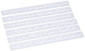 White Plastic Dough Scraper 12308 Alphabet Cutters 33 x 9 x 2 cm