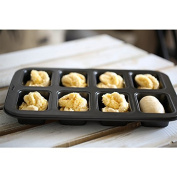 Pie Quiche Baking Pans Tin Dishes Tray, Small Cake Bread Toast Mould, 8 Hole Baking Pan