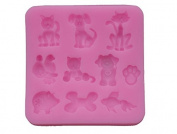 YBC 3D Silicone Fondant Cake Mould Flower Lace Decortaion DIY Baking Chocolate Sugarcraft Mould-10 kind animal