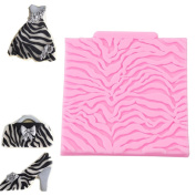 Gluckliy DIY Silicone Zebra Lace Shape Mat Embossed Fondant Chocolate Pastry Mould Cake Decorating Mould Baking Tools