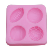 Gluckliy Sport Balls Fondant Cake Decorating Cookie Baking Tool Sugarcraft Soap Silicone Mould for Chocolate Candy Mould