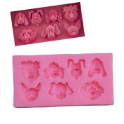 Gluckliy 3D Cute Dog Shape Silicone Mould Chocolate Sugarcraft Fondant Mould Cake Decorating Tools Baking Mould