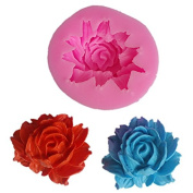 LAMEIDA Peony flowers Silicone Cake Mould Muffin Chocolate Sweet Mould Cake Jelly Ice Silicone Fondant Mould Baking Mould Decor for Home Kids Children