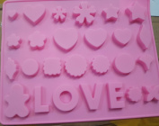 High Quality Love Silicone Cake Mould, Cake Decoration, Chocolate Baking Mould for parties