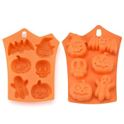 Creative Halloween Pumpkin Cake Cookies Jelly Ice Silicone Fondant Mould Baking Kitchen DIY Bake Tools, Kitchen Craft Master Class, UPXIANG