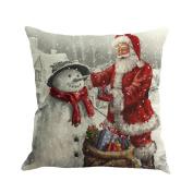Cushion Covers,LMMVP Christmas Printed Sofa Bed Home Decor Pillowcase Cushion Cover