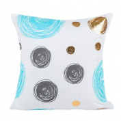 Cushion Covers,LMMVP Elegant Gold Foil Printed Pillow Case Sofa Waist Throw Cushion Cover Home Decor