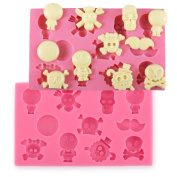 Silicone Fondant Cakecrafts Cookies Soap Cutter Skull Themed Mould DIY Tool