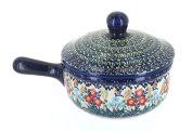 Polish Pottery Garden Field Suace Pot with Lid