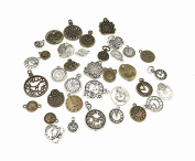 36pcs Alloy Multistyle Clock Dial Face Clock Movement Punk Charm Pendant Connector for DIY Jewellery Making Accessaries by Alimitopia