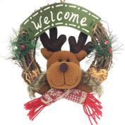 Aurorax Indoor and Outdoor Wreath Door Wall Garland Decoration Holiday Christmas Hanging Door Decorations and Wall Signs, Winter Wonderland Decor, For Home, School, Office, Party Decorations