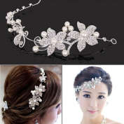 TraveT Wedding Korean Bride Headdress, Soft Chain Marriage Hair Ornaments